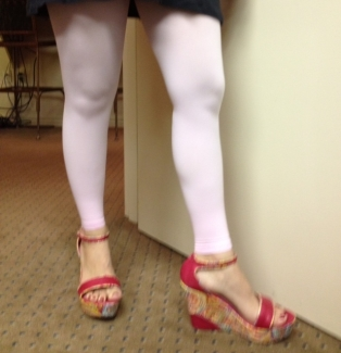 pink leggings with compression