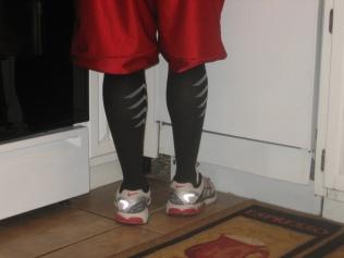Compression in men's running socks