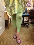 green compression leggings